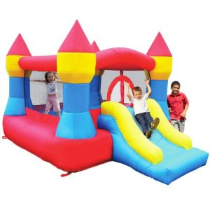 Castle Inflatable Bounce House w/ Slide (12' x 9') Large